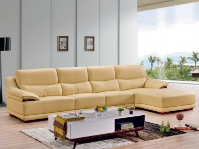 Genuine leather sofa_6015#
