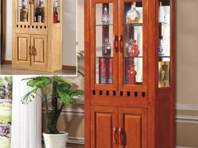 橡木整体酒柜
