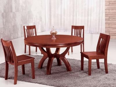 实木圆形餐桌 T265#