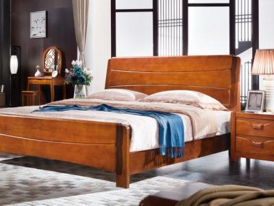 实木床bed_M8809#