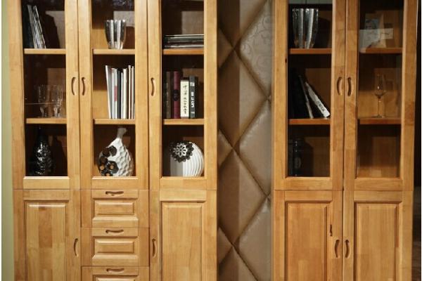 2~3门橡木书柜
