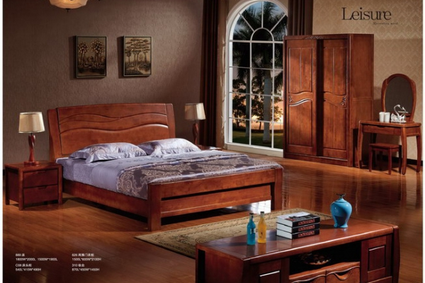 实木床bed_M8801#