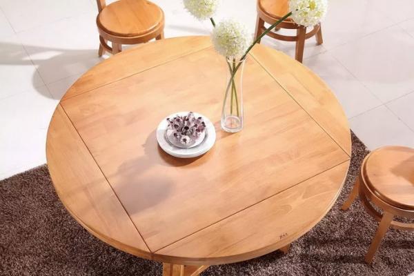 实木可折叠圆形餐桌 T266#