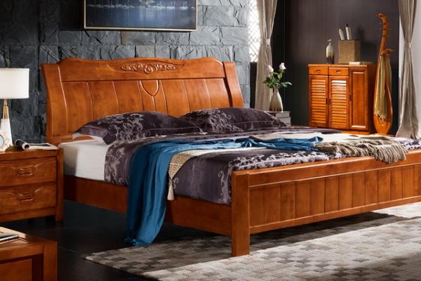 实木床bed_M611#